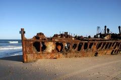 Roestige schipbreuk, Australië, Fraser Island stock foto