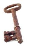 Roestige sleutel Royalty-vrije Stock Foto's