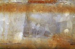 Roestige staalplaat van metaal met difrent texturen Stock Foto's