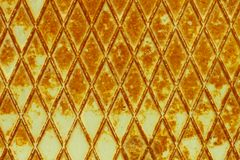 Roestige staalsinaasappel Stock Afbeelding