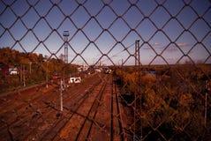 Roestige trainstation Stock Afbeelding