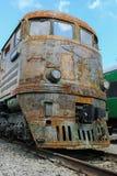 Roestige trein Royalty-vrije Stock Afbeeldingen