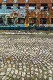Roestige treinwagens Stock Foto's
