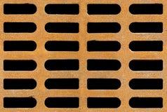 Roestige van de afvoerkanaalrooster naadloze textuur als achtergrond Stock Foto's