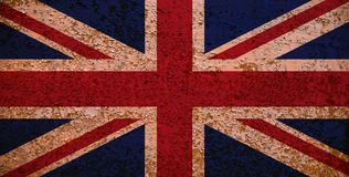 Rusty Flag Of Great Britain stock foto's