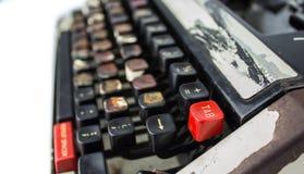 Roestige vuile schrijfmachine Stock Foto's