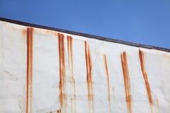 Roestige watervlekken Stock Foto