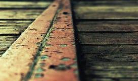 Roestige weg Stock Foto