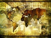 Roestige wereld stock illustratie