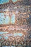 Roestige zinktextuur - stock foto