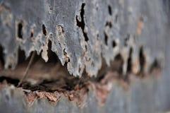 Roestmetaal, schade van Roest en Corrosieachtergrond stock fotografie
