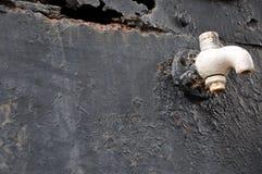 Roestmetaal, schade van Roest en Corrosieachtergrond stock foto's