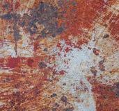 Roesttextuur als achtergrond van de metaalplaat Royalty-vrije Stock Fotografie