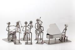 Roestvrij staal Jazz Band royalty-vrije stock afbeeldingen