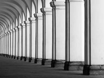 Rof of columns in colonnade Stock Images