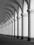 Rof of columns in colonnade Royalty Free Stock Image