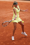 Rofessional tennis player Julia Goerges of Germany during her match at Roland Garros Stock Photos