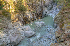 Roffla canyon Switzerland Royalty Free Stock Photography