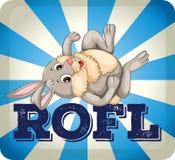 ROFL wyrażenie z królikiem ilustracja wektor