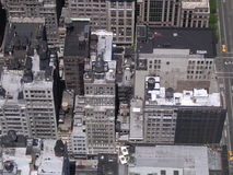 Roftops of New York City. Looking down at the rooftops of NewYork stock photos