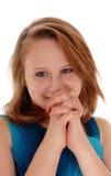 Rogación de la chica joven Foto de archivo libre de regalías