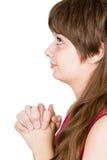 Rogación de la muchacha Imagen de archivo libre de regalías