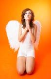 Rogación del ángel fotografía de archivo