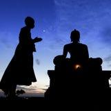 Rogación del monje del novato Foto de archivo libre de regalías