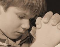 Rogación del niño Fotografía de archivo