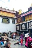 Rogación del templo de Dazhao en Tíbet Imágenes de archivo libres de regalías