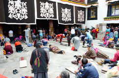 Rogación del templo de Dazhao en Tíbet Foto de archivo libre de regalías