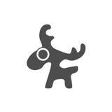 Rogacz, loga graficzny projekt Obrazy Royalty Free