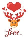 Rogacz w miłość wektoru ilustraci Obrazy Royalty Free