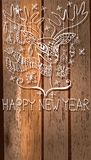 Rogacz z wielkimi rogami i dekoracjami dla pięknego Wakacyjnego desi Zdjęcie Royalty Free