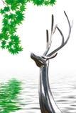 rogacze jedzą liść Zdjęcie Royalty Free