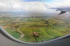 Aerial view of Rogaland countryside. Norway royalty free stock image