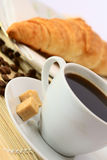 rogalik kawy Obrazy Royalty Free