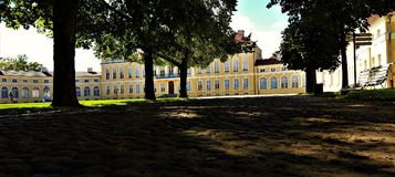 Rogalin village palace view, Poland. royalty free stock images