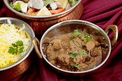 Rogan josh curry bowls Royalty Free Stock Images