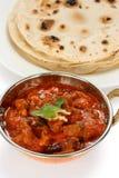 Rogan josh för Mutton, muttoncurry, indisk kokkonst arkivfoton