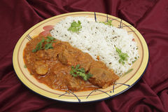Rogan josh plate Royalty Free Stock Photography