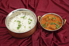 Rogan josh and rice horizontal Stock Photos