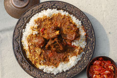 Rogan josh with Rice Royalty Free Stock Photo