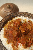 Rogan josh with Rice Stock Image