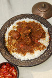 Rogan josh with Rice Stock Photos