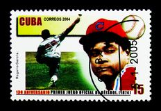 Rogelio Garcia, 130ste Verjaardag van het Officiële Honkbal Champ Stock Foto