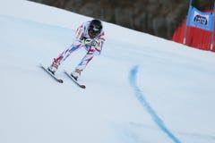 ROGER Brice i FIS alpina Ski World Cup - 3rd MÄNS SUPER-G Arkivbilder
