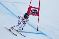 ROGER Brice i FIS alpina Ski World Cup - 3rd MÄNS SUPER-G Royaltyfria Foton