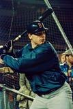 Roger Clemens som tar slagträning Royaltyfri Foto