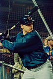 Roger Clemens taking batting practice Royalty Free Stock Photo